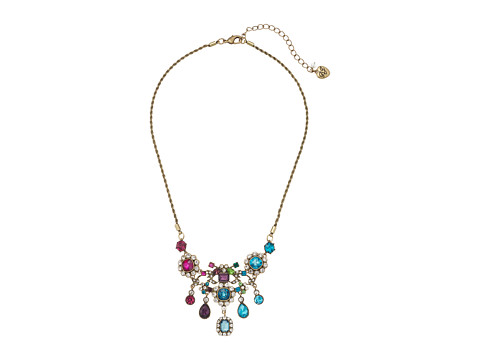 Betsey Johnson Multicolor and Gold Bib Necklace - Multicolor