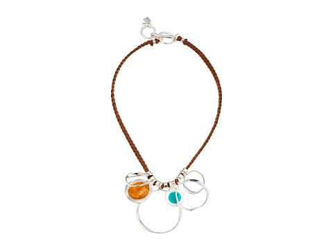 Robert Lee Morris Silver Sculptural and Colorful Frontal Necklace - Multicolor