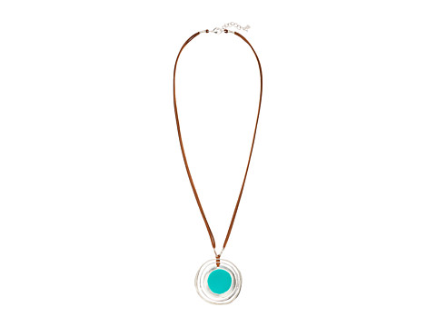 Robert Lee Morris Long Orbital Pendant Necklace - Teal