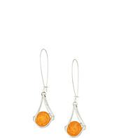 Robert Lee Morris - Silver Earrings with Amber Stone