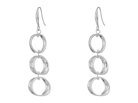 Robert Lee Morris Circular Drop Earrings - Soft Silver