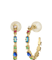 Betsey Johnson - Multi-Stone Hoop Earrings