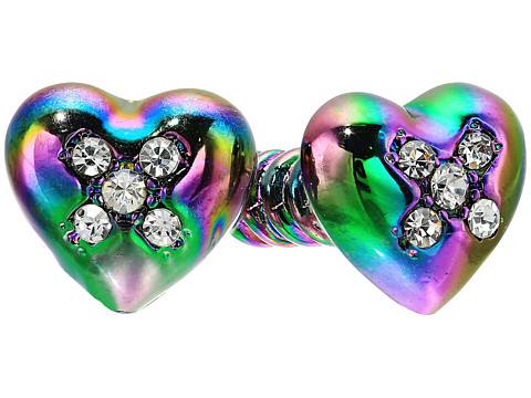 Betsey Johnson Screw Front Back Earrings - Multicolor