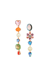 Betsey Johnson - Multi-Charm Drop Earrings