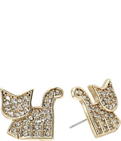 Betsey Johnson - Crystal and Gold Stud Earrings