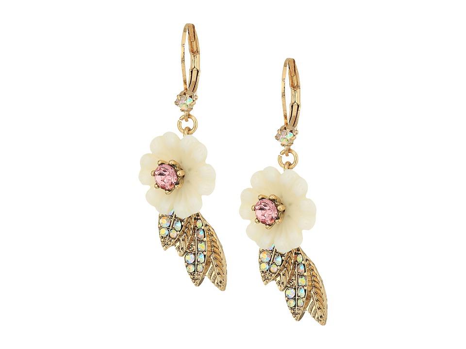 Betsey Johnson - Flower and Leaf Earrings