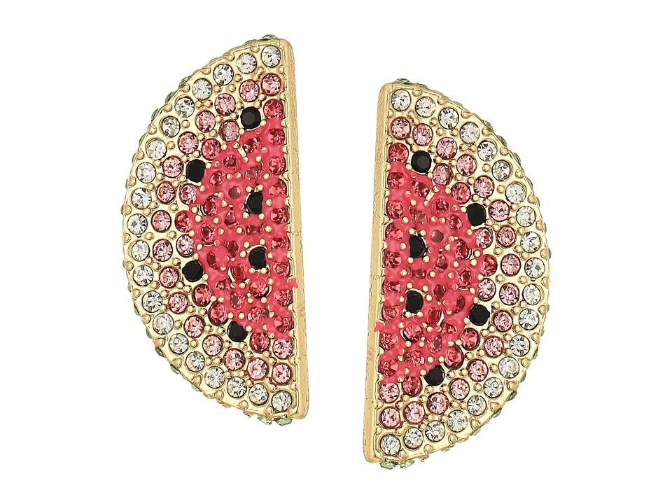 Betsey Johnson - Watermelon Slice Earrings