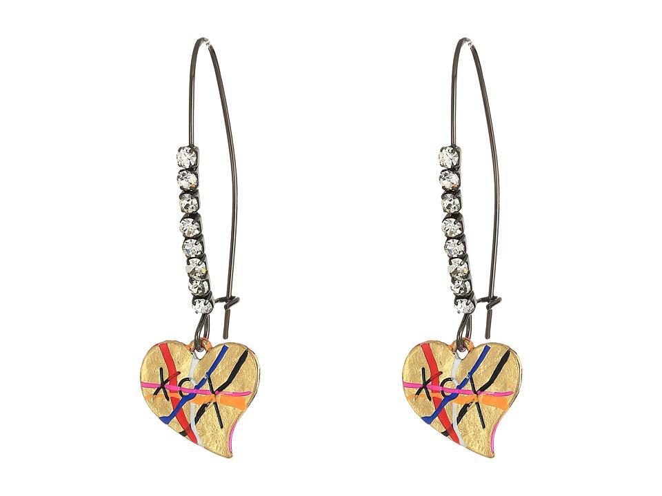 Betsey Johnson - Heart Drop Earrings