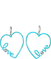 Betsey Johnson - Crystal Heart Earrings