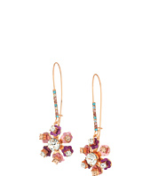 Betsey Johnson - Multi-Stone Flower Earrings