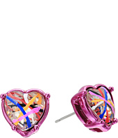 Betsey Johnson - Graffiti Heart Studs Earrings