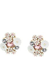Betsey Johnson - Flower Cluster Button Stud Clip-On Earrings