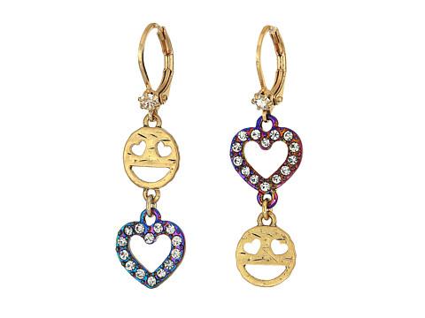 Betsey Johnson Emoji Drop Earrings - Crystal