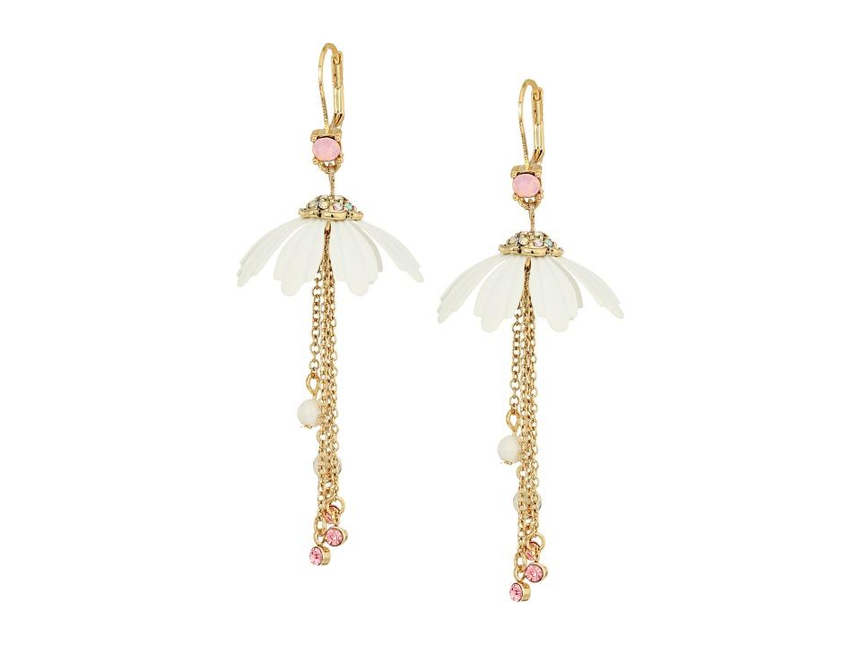Betsey Johnson - Flower Chain Drop Earrings