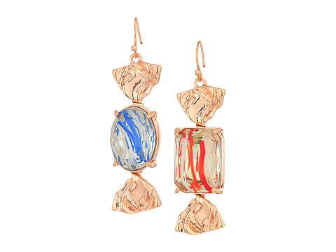Betsey Johnson Candy Wrapped Earrings - Blue