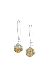 Robert Lee Morris - Two-Tone Wire Wrap Drop Earrings