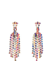 Betsey Johnson - Multicolor Graffiti Chandelier Earrings