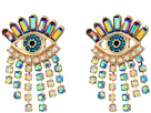 Betsey Johnson - Colorful Evil Eye and Fringe Earrings