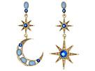 Betsey Johnson - Moon and Star Drop Earrings
