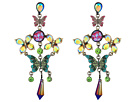Betsey Johnson - Colorful Butterfly Chandelier Earrings