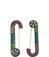 Betsey Johnson - Multicolor Stone Safety Pin Earrings