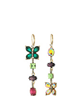 Betsey Johnson - Colorful Butterfly Linear Earrings