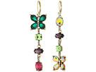Betsey Johnson - Colorful Butterfly Linear Earrings