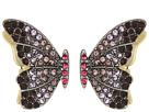 Betsey Johnson - Purple Tonal Butterfly Stud Earrings