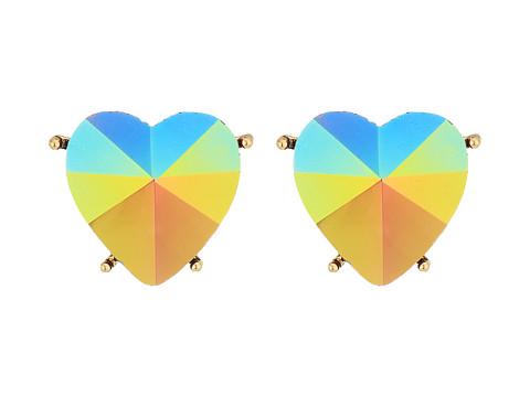 Betsey Johnson Pink Heart Clip Earrings - Pink