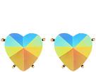 Betsey Johnson - Pink Heart Clip Earrings