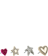 Betsey Johnson - Hearts and Stars Earrings Set