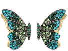Betsey Johnson - Green Tonal Butterfly Studs Earrings
