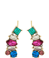 Betsey Johnson - Multicolor Stone Earrings Crawler