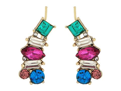 Betsey Johnson Multicolor Stone Earrings Crawler - Multicolor