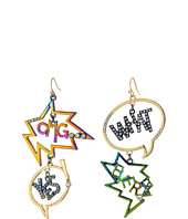 Betsey Johnson - Gold and Crystal Speech Bubble Earrings