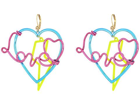 Betsey Johnson Multicolor Love Drop Earrings - Multicolor