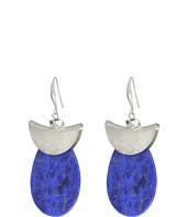 Robert Lee Morris - Silver and Lapis Drop Earrings