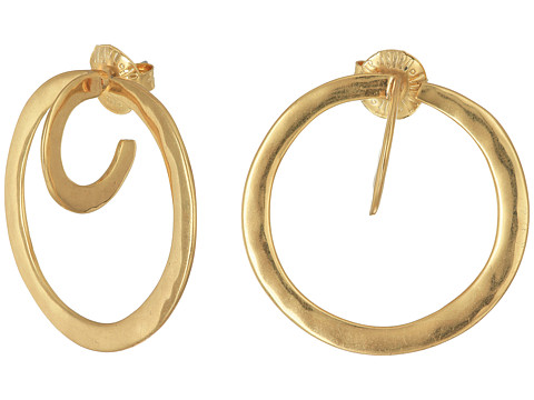 Robert Lee Morris Post Hoop Earrings - Gold
