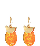 Robert Lee Morris - Silver and Amber Drop Earrings