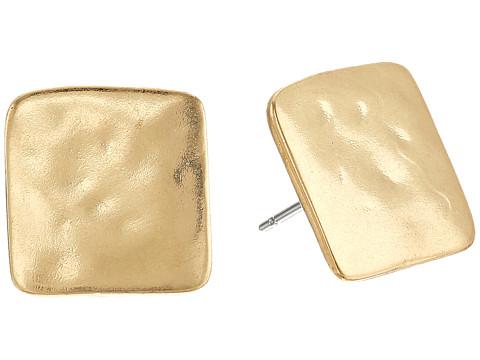 Robert Lee Morris Square Studs Earrings - Gold