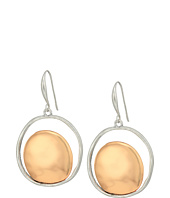 Robert Lee Morris - Silver and Rose Gold Drop Earrings