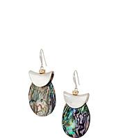 Robert Lee Morris - Silver and Abalone Drop Earrings