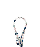 Robert Lee Morris - Silver and Patina Multi-Row Necklace