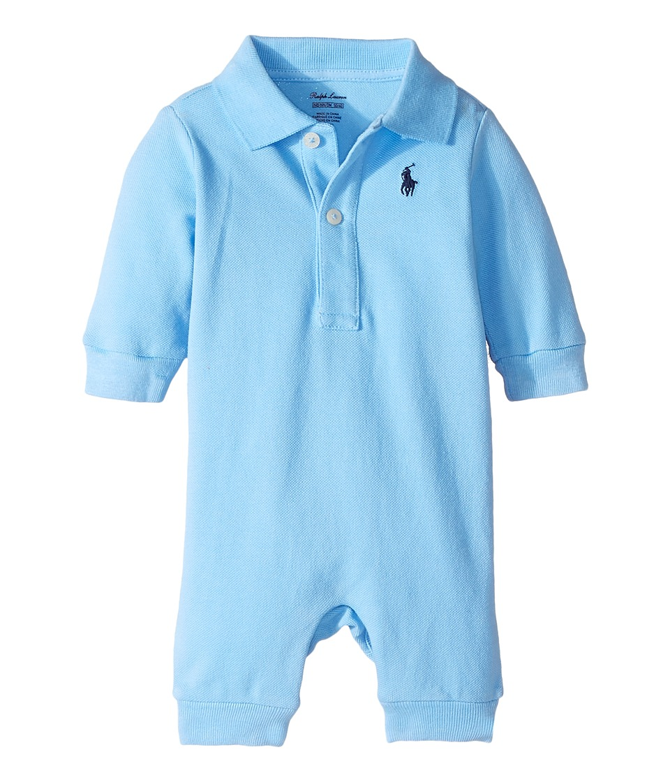 Ralph Lauren Baby - Cotton Mesh Polo Coverall
