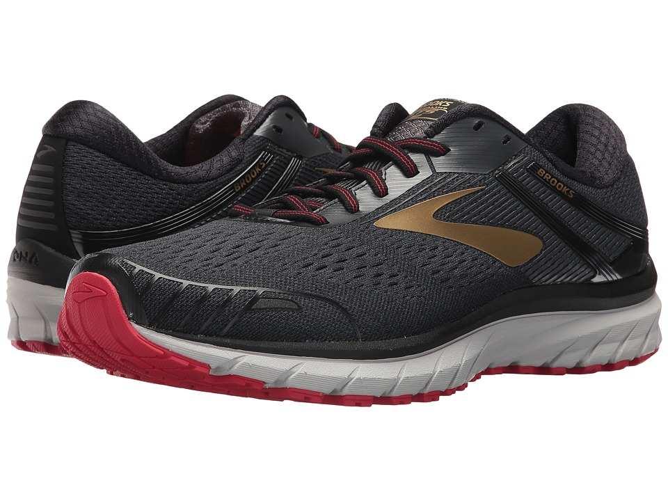 Brooks - Adrenaline GTS 18 (Black/Gold/Red) Mens Running Shoes