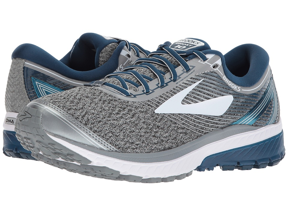 Brooks - Ghost 10 (Silver/Blue/White) Mens Running Shoes