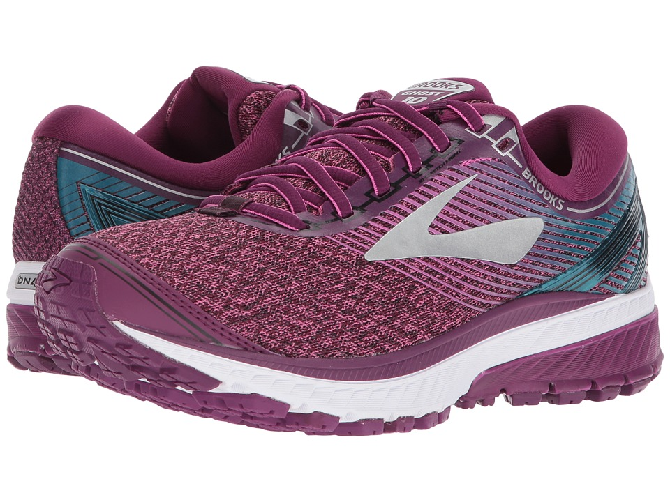 BROOKS Ghost 10 (Purple/Pink/Teal) Women's Running Shoes