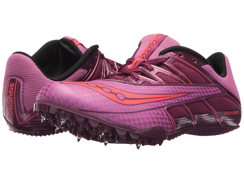 Saucony Spitfire 4 (Purple/Pink) Women's Running Shoes