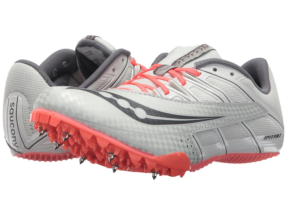 Saucony Spitfire 4 (Silver/Pink) Women's Running Shoes