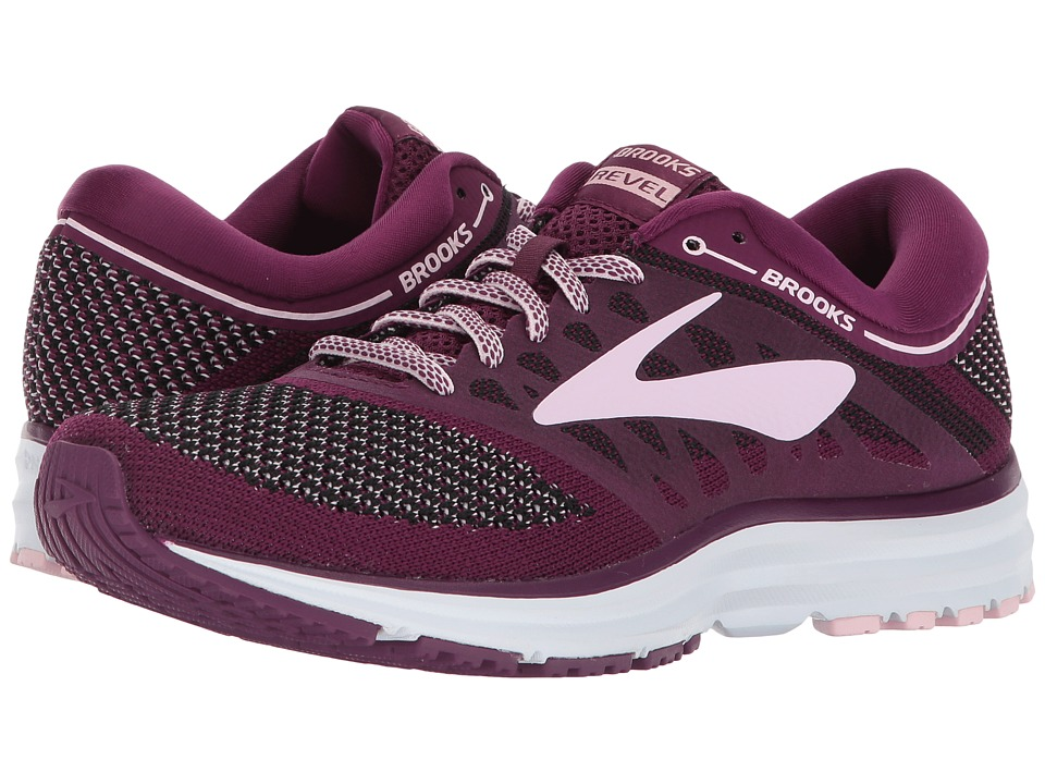 Brooks - Revel (Plum/Pink/Black) Womens Running Shoes